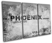 Phoenix AZ USA City Typography - 13-2124(00B)-TR32-LO